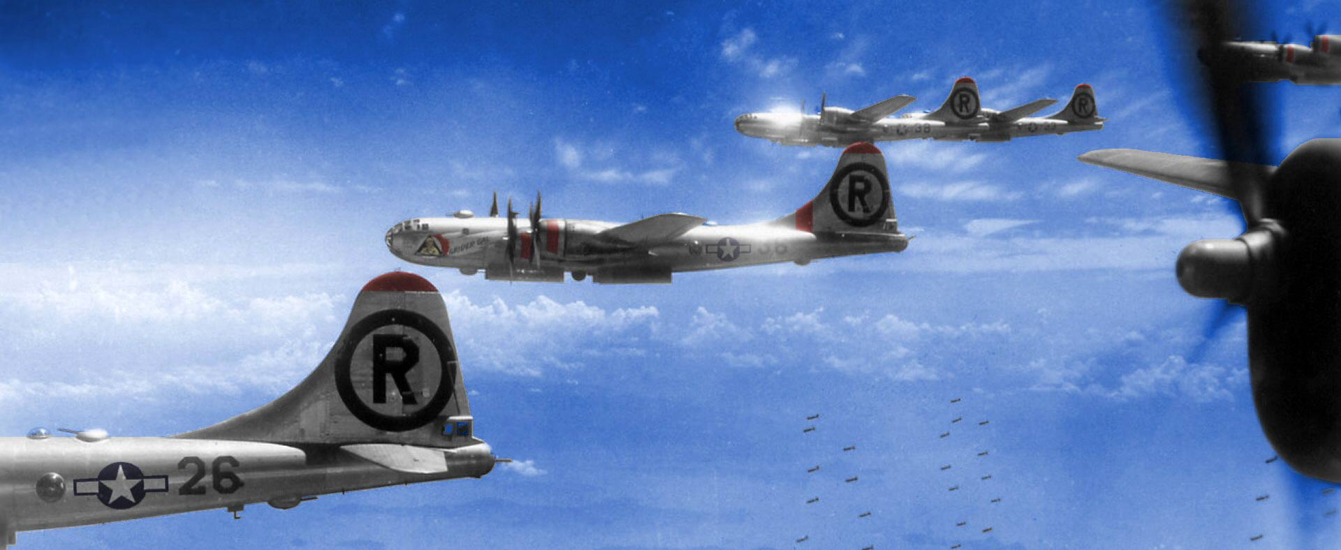 6th Bomb Group B-29 planes, Pacific War, 1945. Photo: ©Percy Tucker. All Rights Reserved