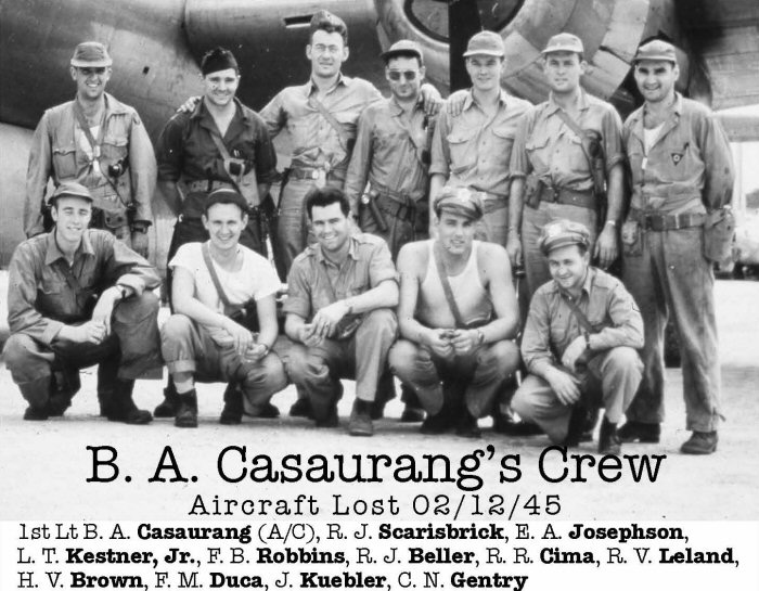 Casaurang Crew 3906 - Photo provided by 6th Bomb group, All Rights Reserved.