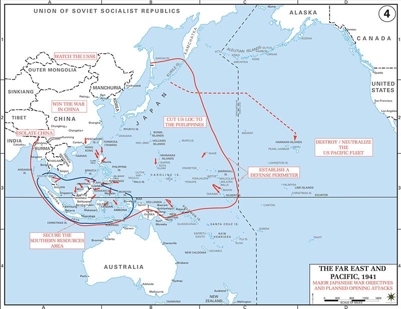 Pacific War Map