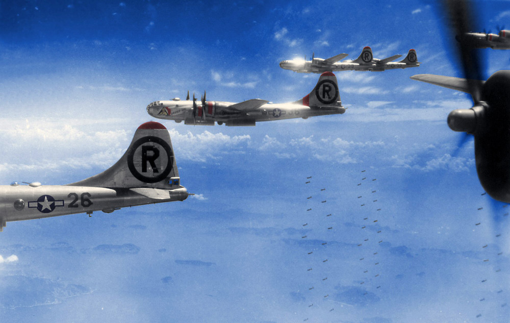 B-29 Bombers Halfway Home - WWII - The Pacific War. Photo: John Potenza. All Rights Reserved.