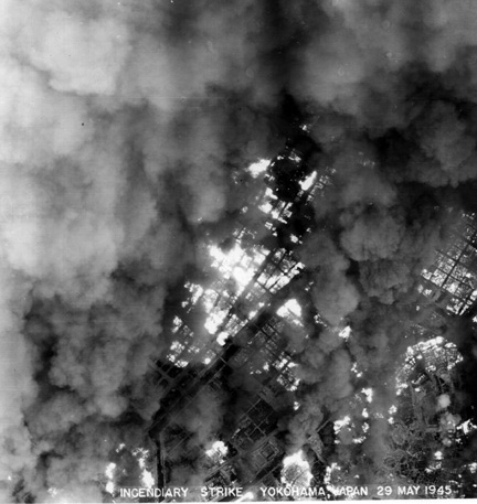 Incendiary Strike B-29 1945 War Over Japan