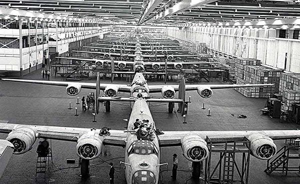 B-24 Plant Ford Willow Run WW II