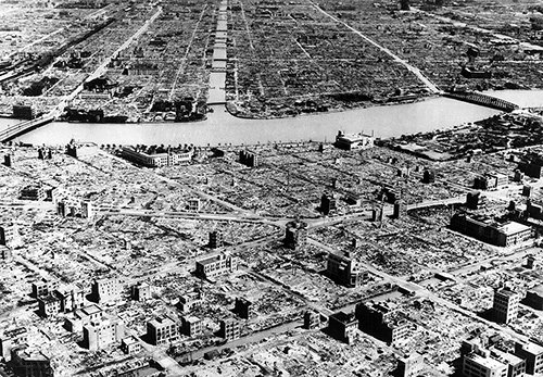 Hiroshima after the fire-bombing - 6th Bomb Group