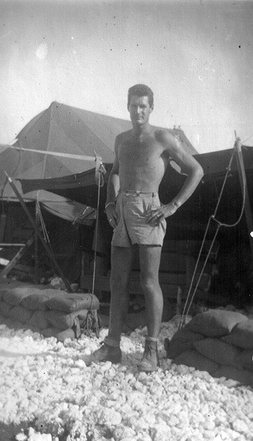 Ed Vincent on Tinian Island