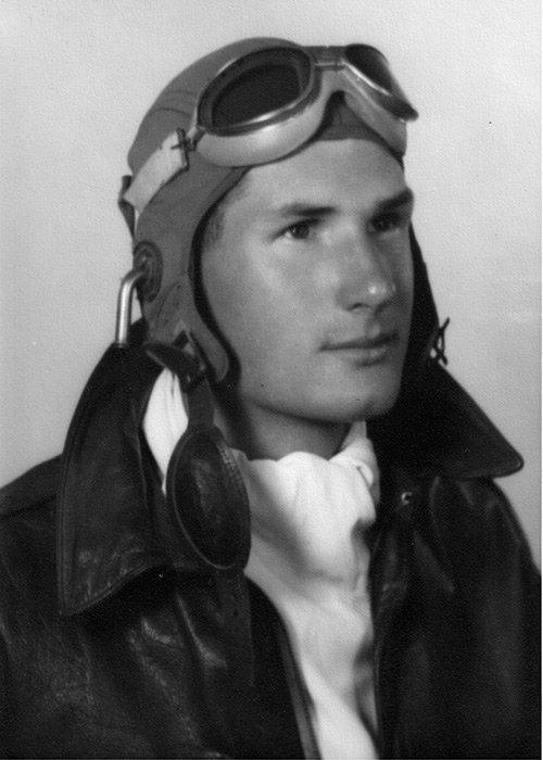 Edgar Vincent as a US Air Corps cadet