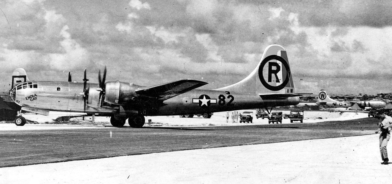 Enola Gay on Tinian with Tail marking changed. ©Photo by Bill Webster