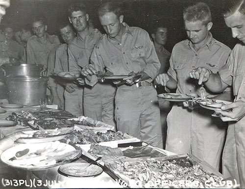 Tinian July 3, 1945 Officers Club ©Roscoe Booth, All Rights Reserved