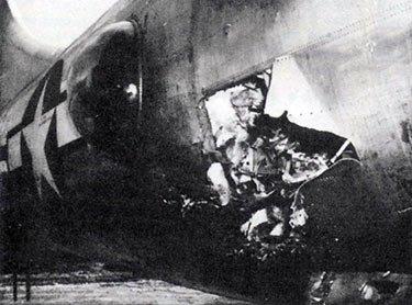 Damaged B-29 War Over Japan
