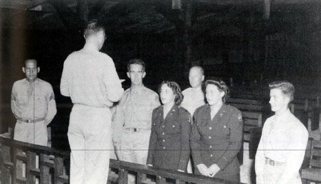 Marriage Ceremony Tinian's First Wedding, October 1945.
