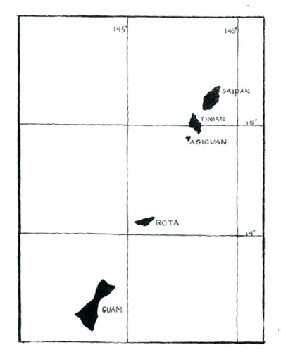 Guam Saipan Map